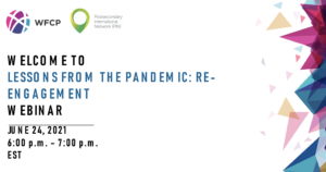 Lessons from the pandemic - re-engagement webinar June 2021